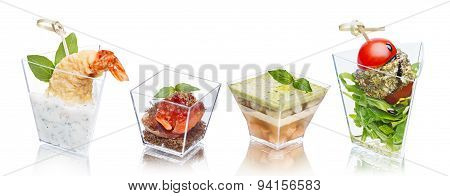 Appetizers In Glasses