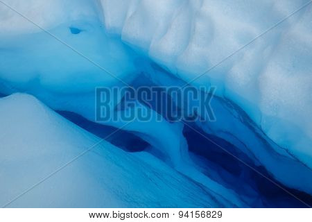 Glacier Water in Crevasse