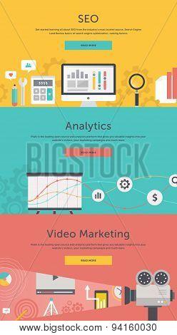 Seo Optimization, Web Analytics, Video Marketing