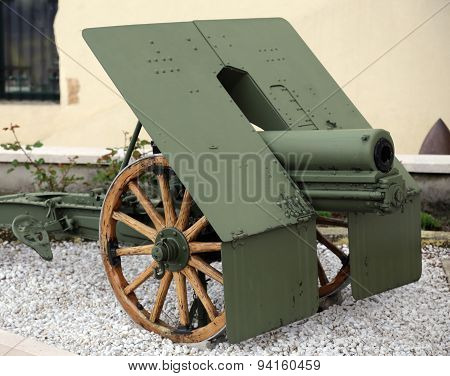 Ancient Cannon Of The World War I In Italy
