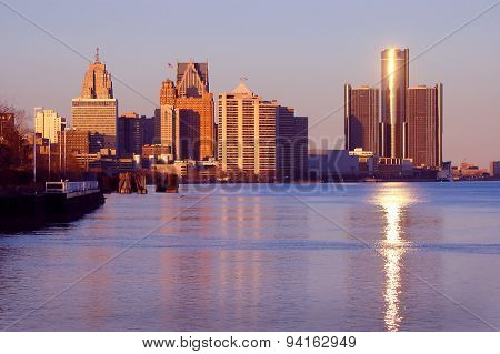 Detroit On River Front