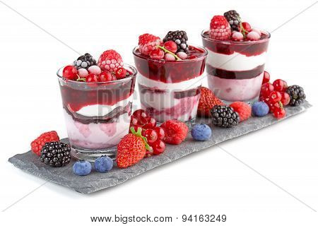 parfait with berries