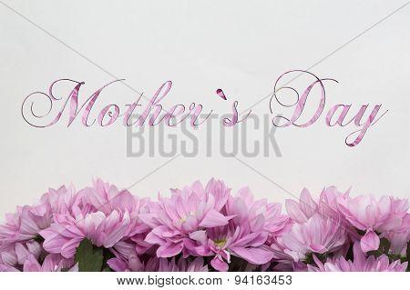 mother`s day flower decoration card - handwritten