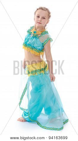 Cute girl in Eastern dress