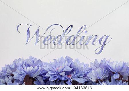 wedding flower decoration on white background