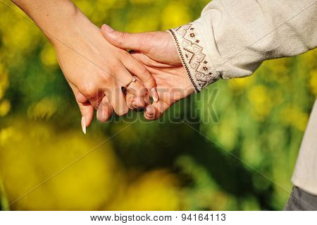 Hands Of Couple