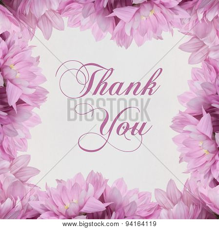 thank you text -  flower decoration