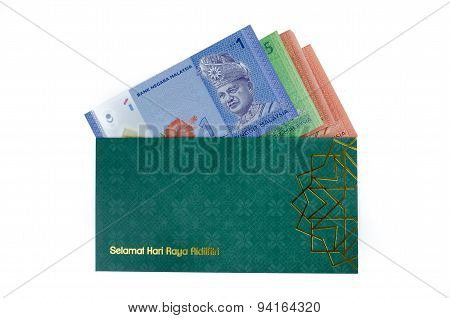 Duit Raya Isolated On White Background