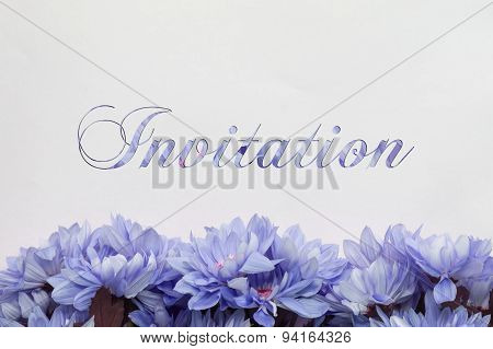 Invitation / You are invited - flower decoration on white