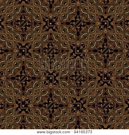 Steam Punk Geometric Seamless Pattern