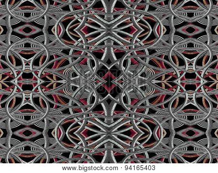 Intricate Geometric Futuristic Pattern