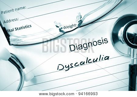 Diagnosis Dyscalculia and tablets.