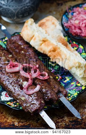 The Turkish Kebab From Lamb.