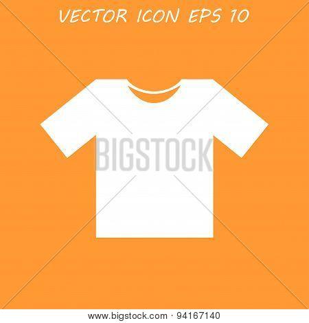 Tshirt Icon Icon, Flat Design Style