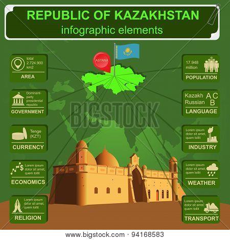 Kazakhstan  infographics, statistical data, sights