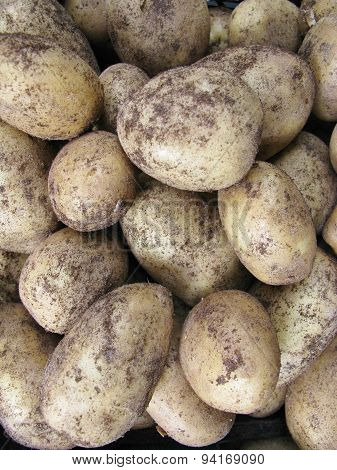 Potatoes at the greengrocer