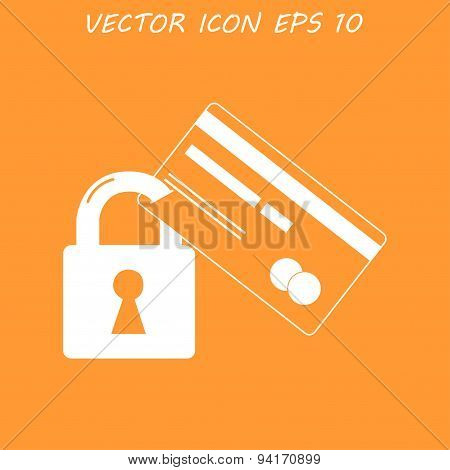 Credit Card Security Icon . Vector  Eps 10.