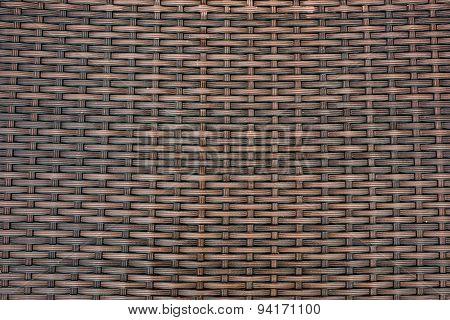 Rattan Basket Close-up Texture.