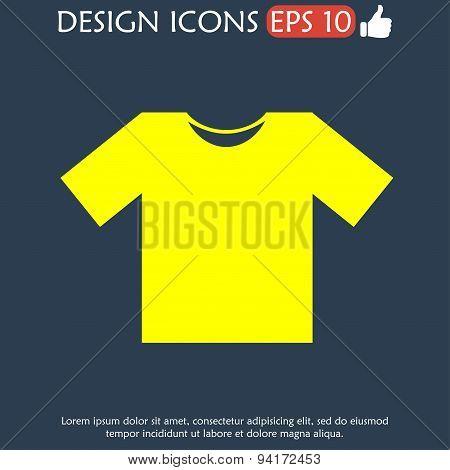 Tshirt Icon Icon, Vector Illustration. Flat Design Style