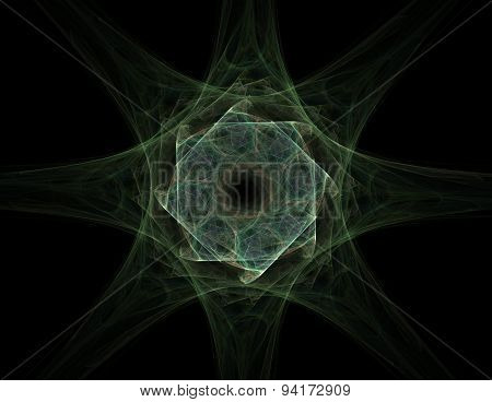 Elementary Particles series. Interplay of abstract fractal forms on the subject of nuclear physics