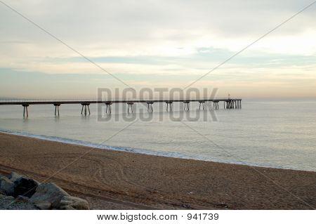 Badalona. Morning Sea