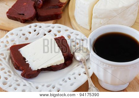Dessert Romeo And Juliet, Goiabada, Minas Cheese, Coffee