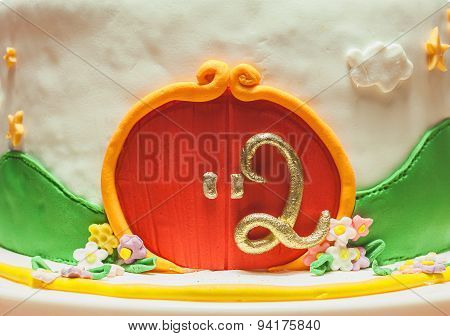 Decoration Of Second Birthday Cake