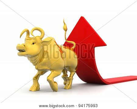 Growing Arrow With Bull