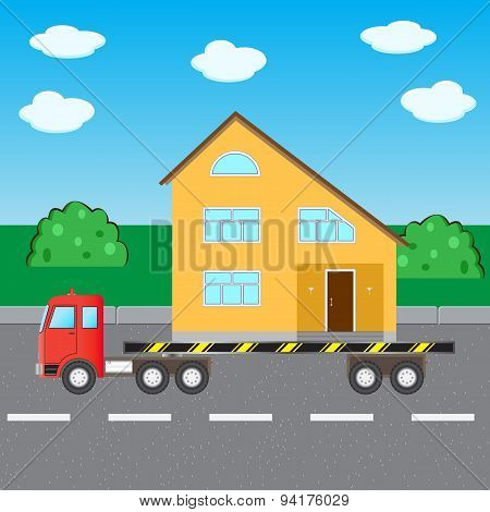 Truck Transports House