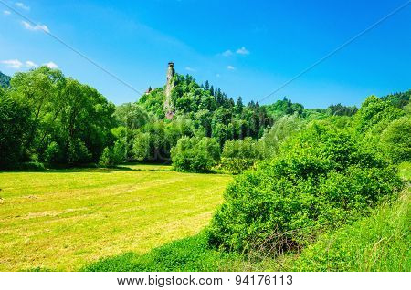 Orava castle tower in clear summer day, Slovakia