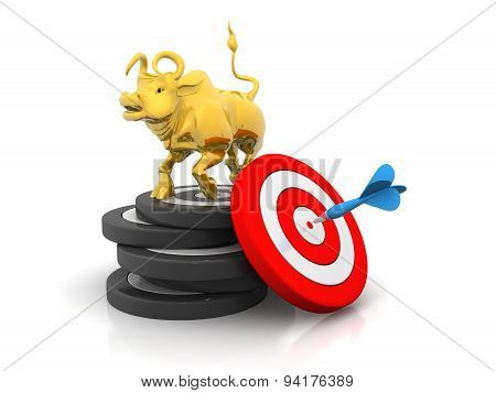 Business Bull And Target