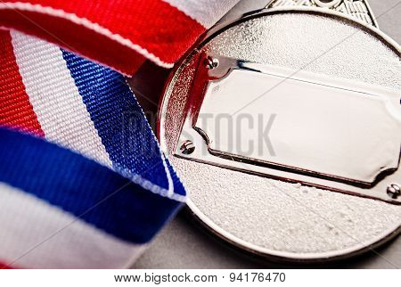 Silver Medal With Blank Face For Text