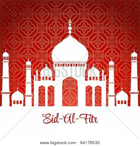 Eid Al Fitr. Eid Mubarak. Vector background