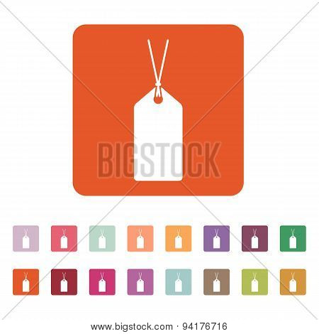 The Price Tag Icon. Label Symbol. Flat