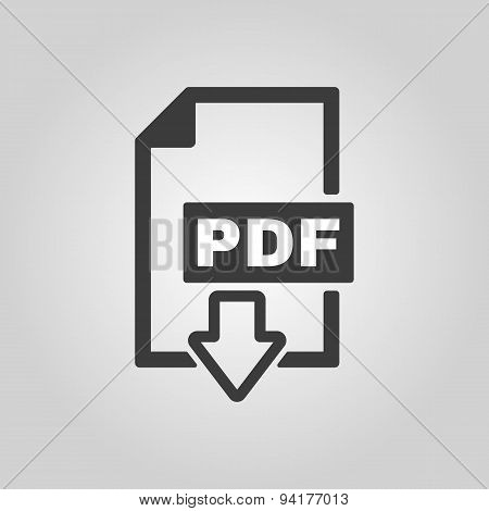 The Pdf Icon. File Format Symbol. Flat