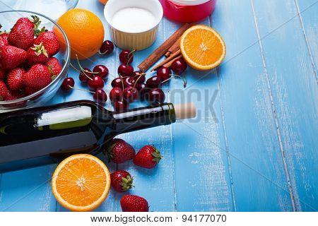Ingredients For Sangria.