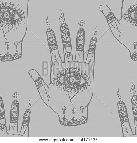 Bohemian Hand Background