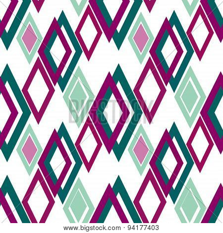 Seamless Rhombus Pattern Background Geometric Abstract Texture
