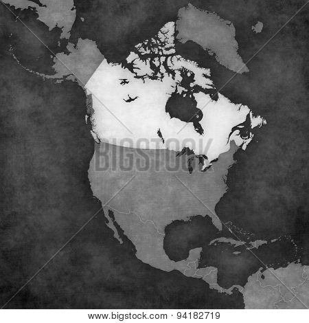 Map Of North America - Canada