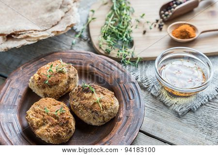 Falafel With Wholewheat Tortillas