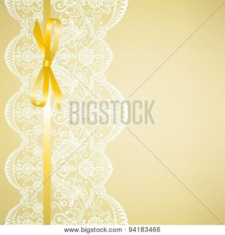 lace on yellow background