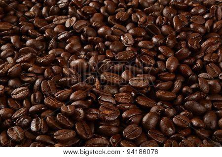 Dark Coffee Bean Background