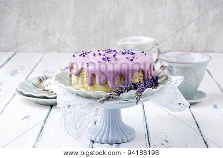 Lavender Cheese Cake