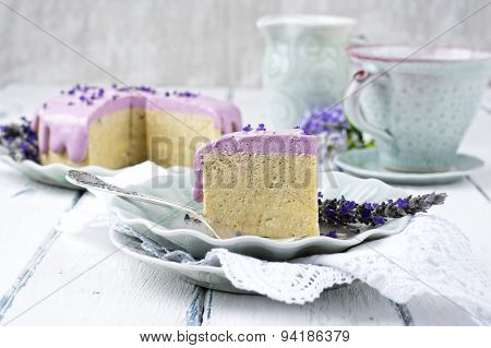 Lavender Cheese Cake