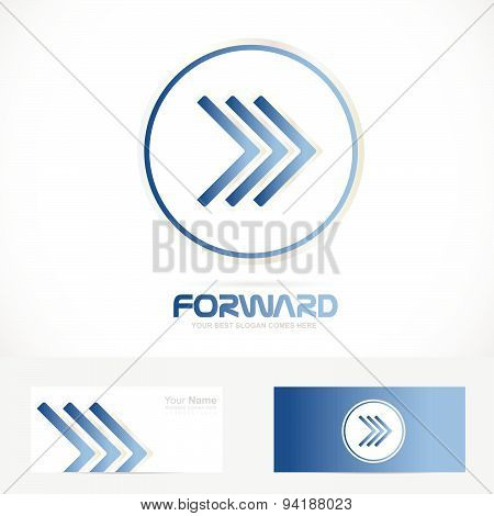 Arrow blue logo