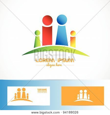 Family icon logo concept abstract