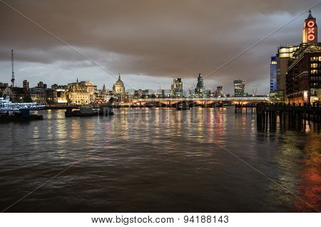 Skyline Of London At Night