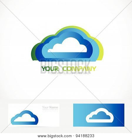 Cloud computing storage logo