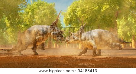Diabloceratops Dinosaur Fight