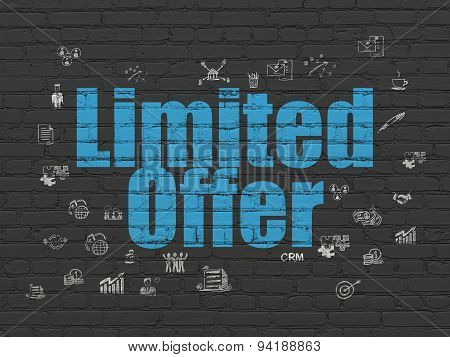 Business concept: Limited Offer on wall background
